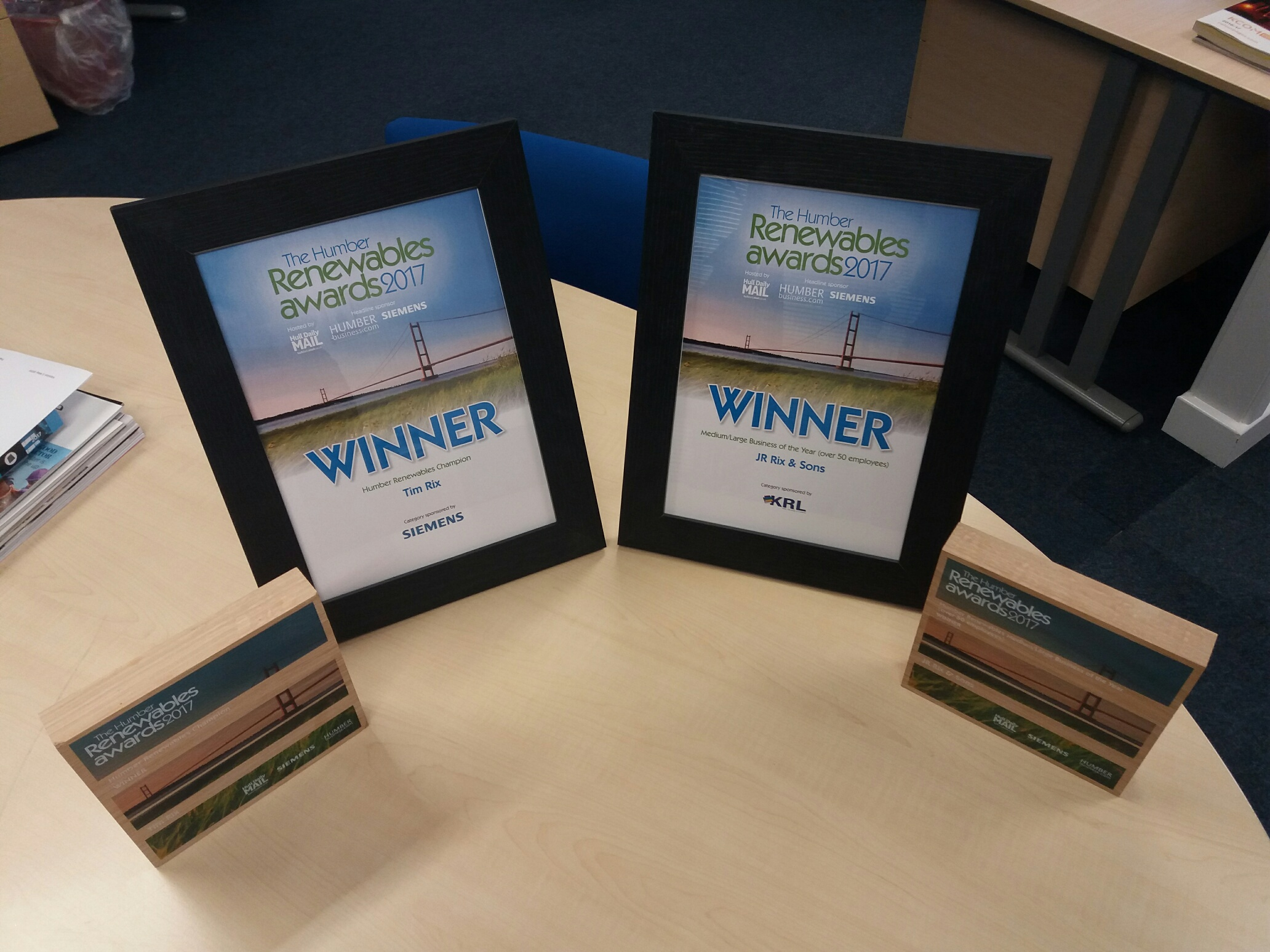 Rix Sea Shuttle win Humber renewables award