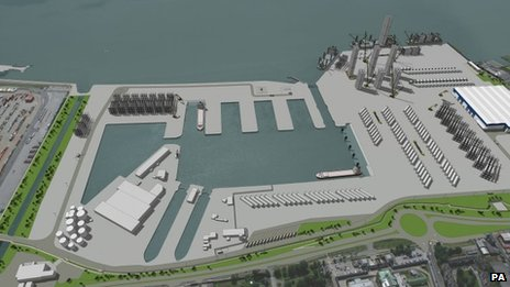 Artist impression of New wind farm factory in Hull